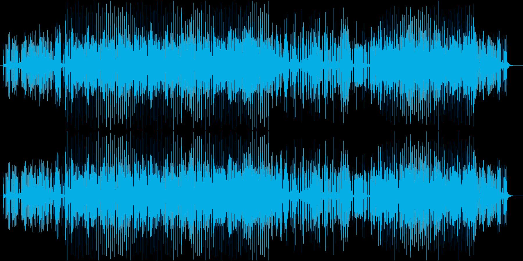 クールな雰囲気のハウスミュージックの再生済みの波形