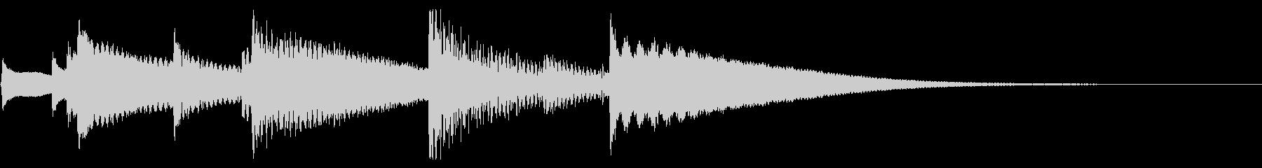 ハッピーバースデー ジングル オルゴールの未再生の波形