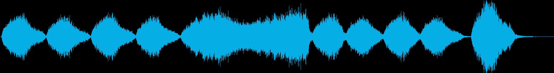 神秘的で美しい壮大な合唱アンビエントの再生済みの波形