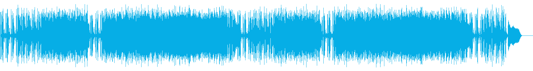わくわくする日常シーンの再生済みの波形