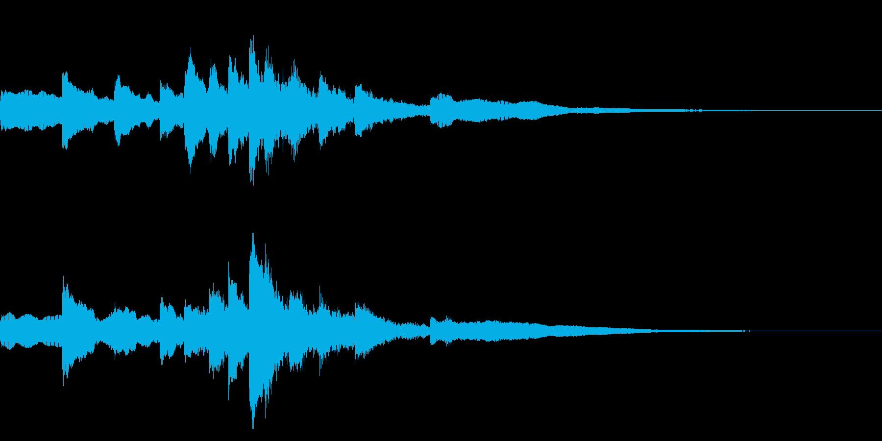 インドにいる気分になる効果音の再生済みの波形