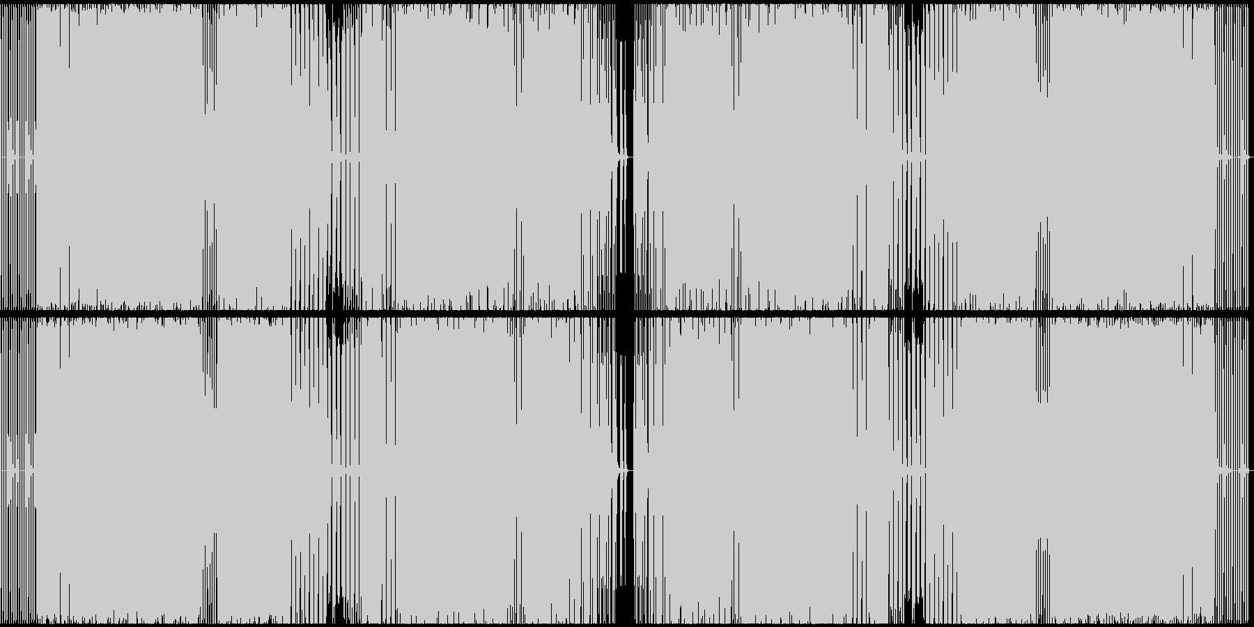 日常的でほのぼのとしたテクノサウンドの未再生の波形