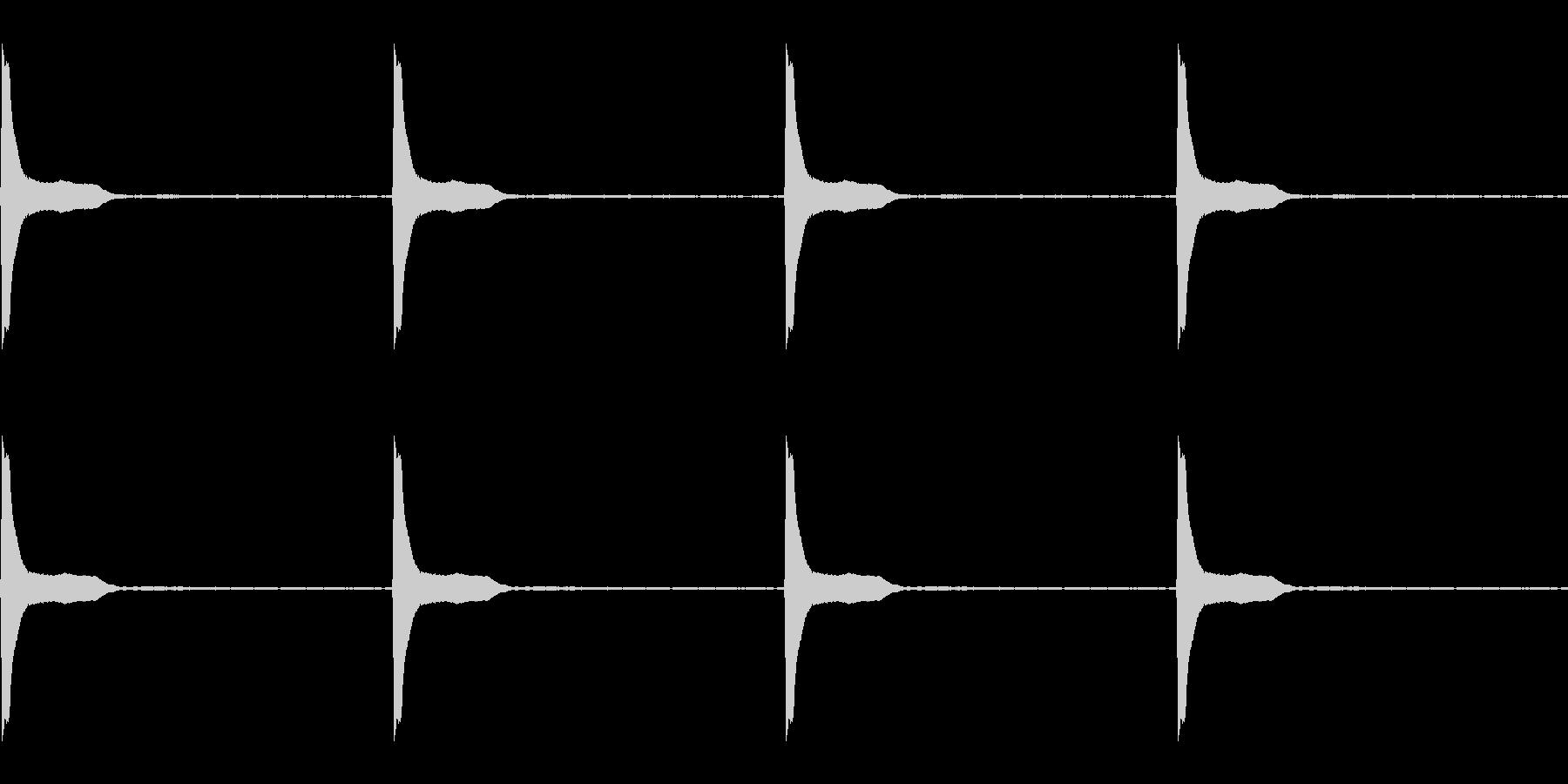 Count カウントダウン ループ 4の未再生の波形
