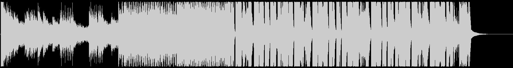 シンセ音が全面に出てるスロービートの未再生の波形