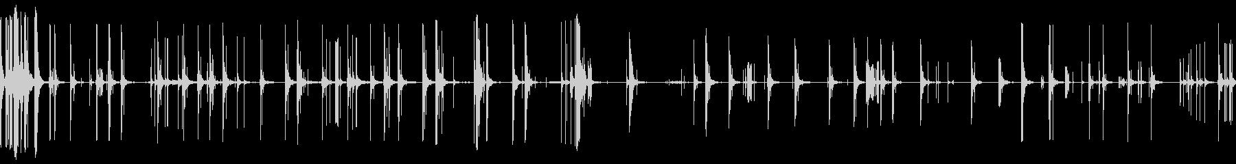 爆発花火ディスプレイラウの未再生の波形