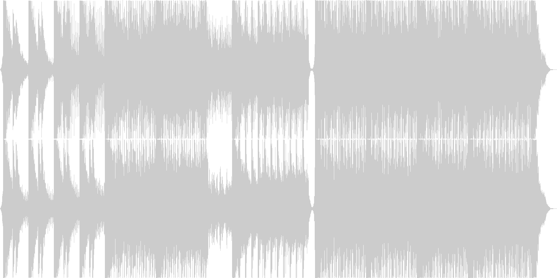 ワイドでモチベーションを感じるロックの未再生の波形