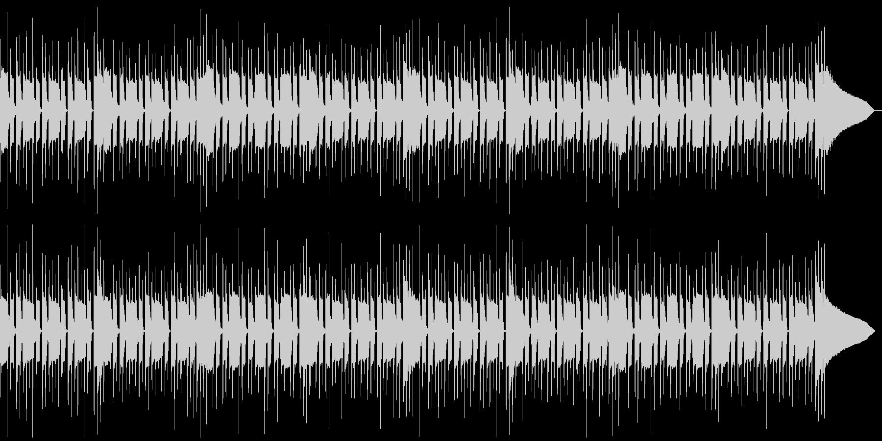 音数の少ないマッタリとしたBGMの未再生の波形