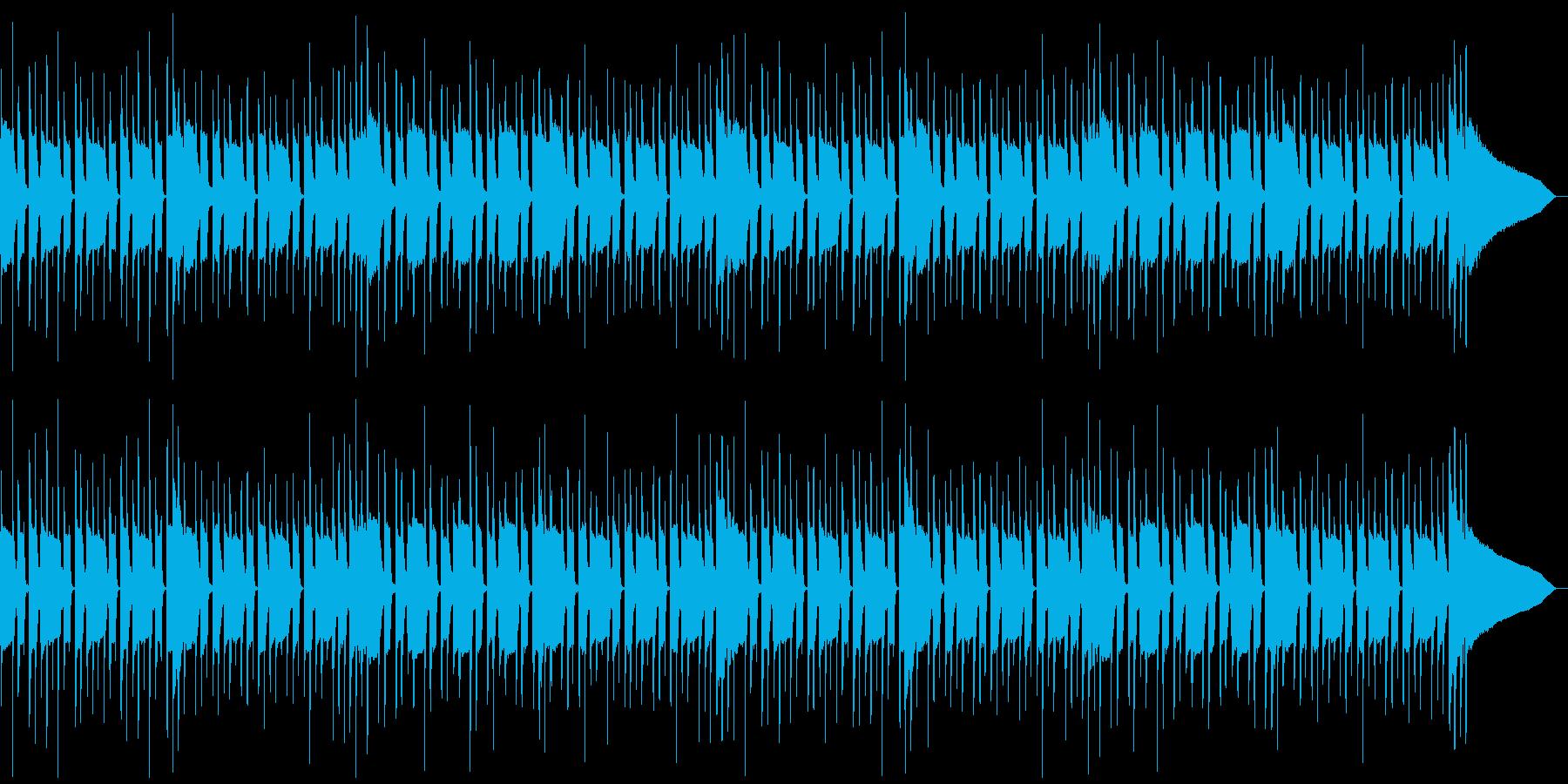 音数の少ないマッタリとしたBGMの再生済みの波形
