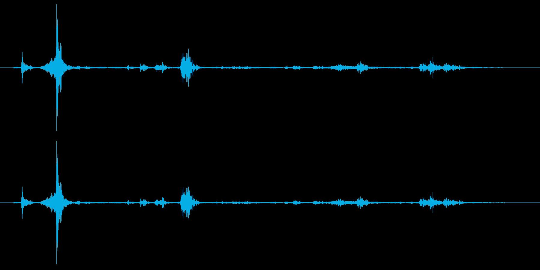 ギフト用段ボール箱開封の再生済みの波形