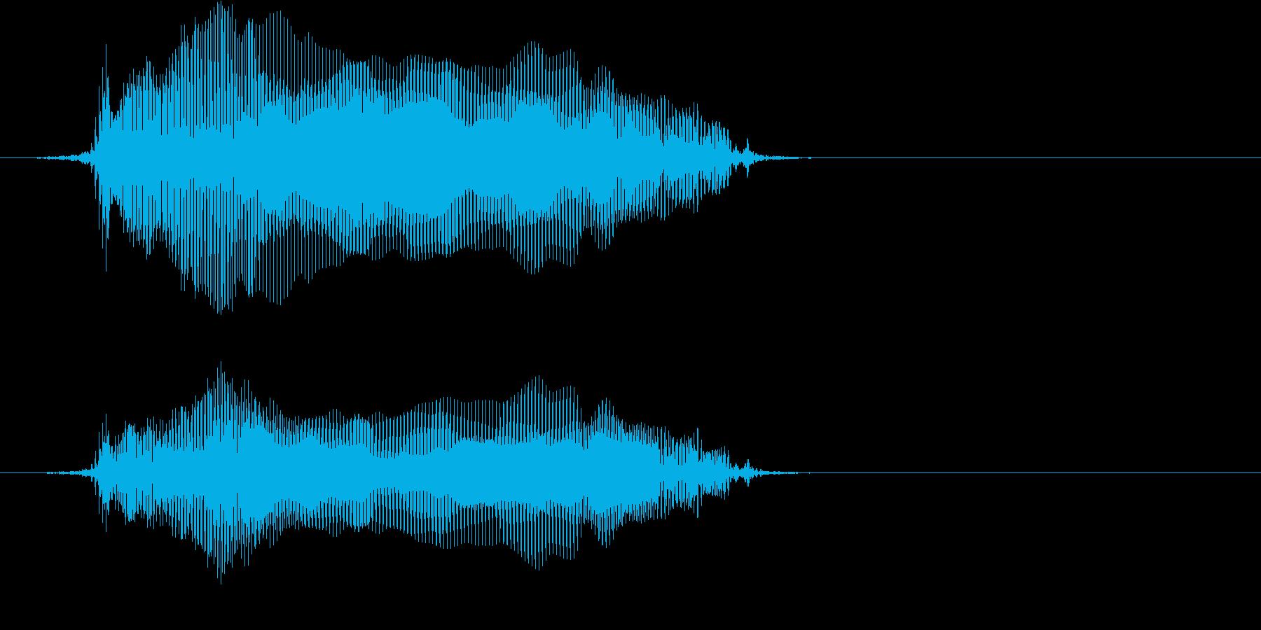 「猫の鳴き声005」にゃーおver4の再生済みの波形