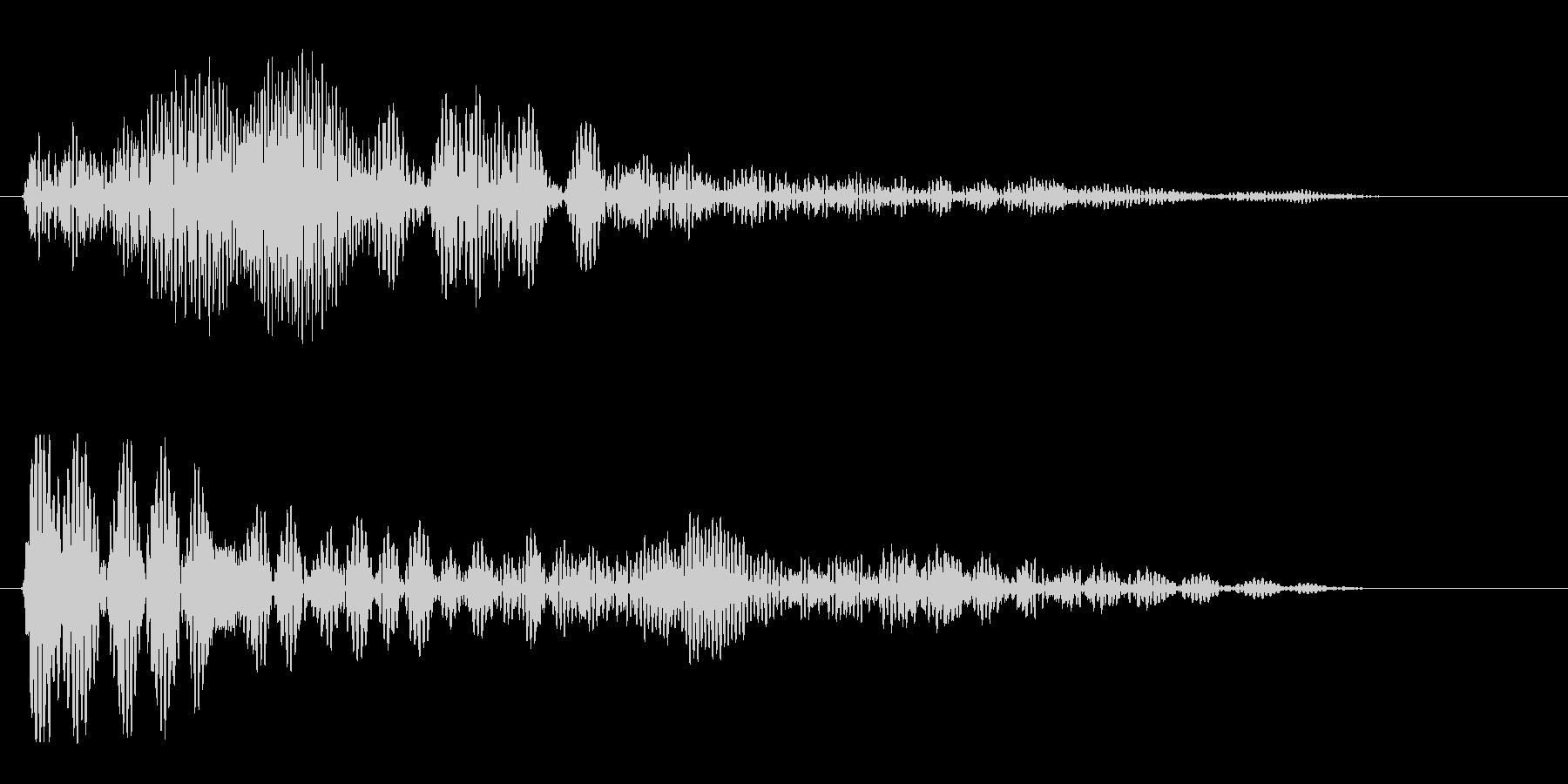ポワン(電子音短め)の未再生の波形