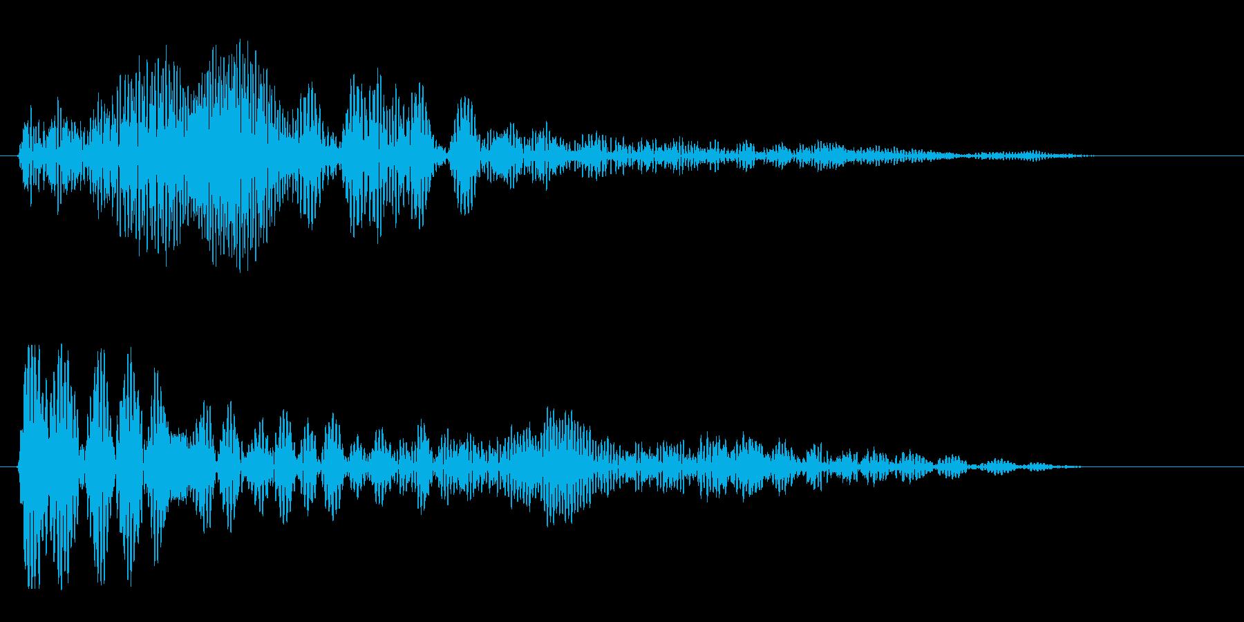 ポワン(電子音短め)の再生済みの波形