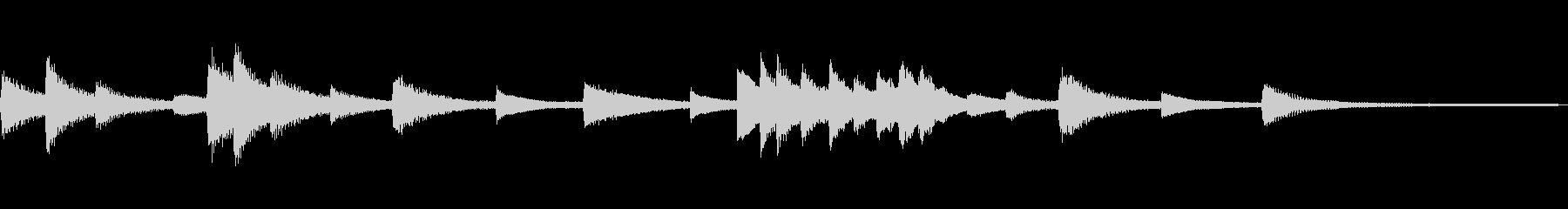 静かなJazzジングル50-ピアノソロ の未再生の波形