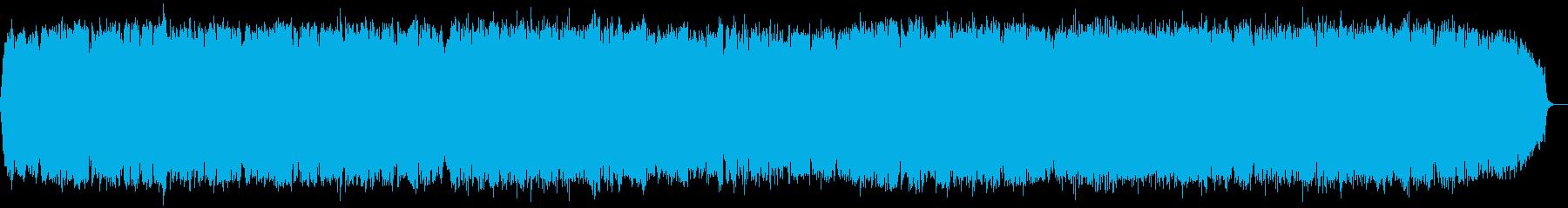 のどかな自然の竹笛のヒーリング音楽の再生済みの波形