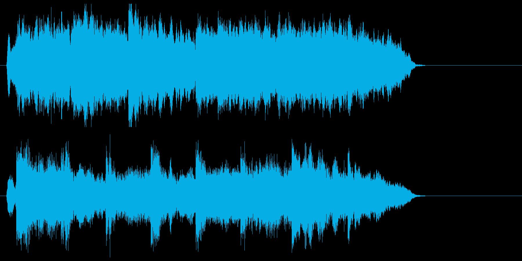 ストリングスの優しさジングルの再生済みの波形