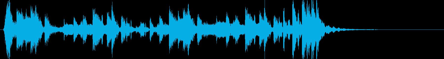 和風 鼓 掛け声HIPHOPアレンジの再生済みの波形