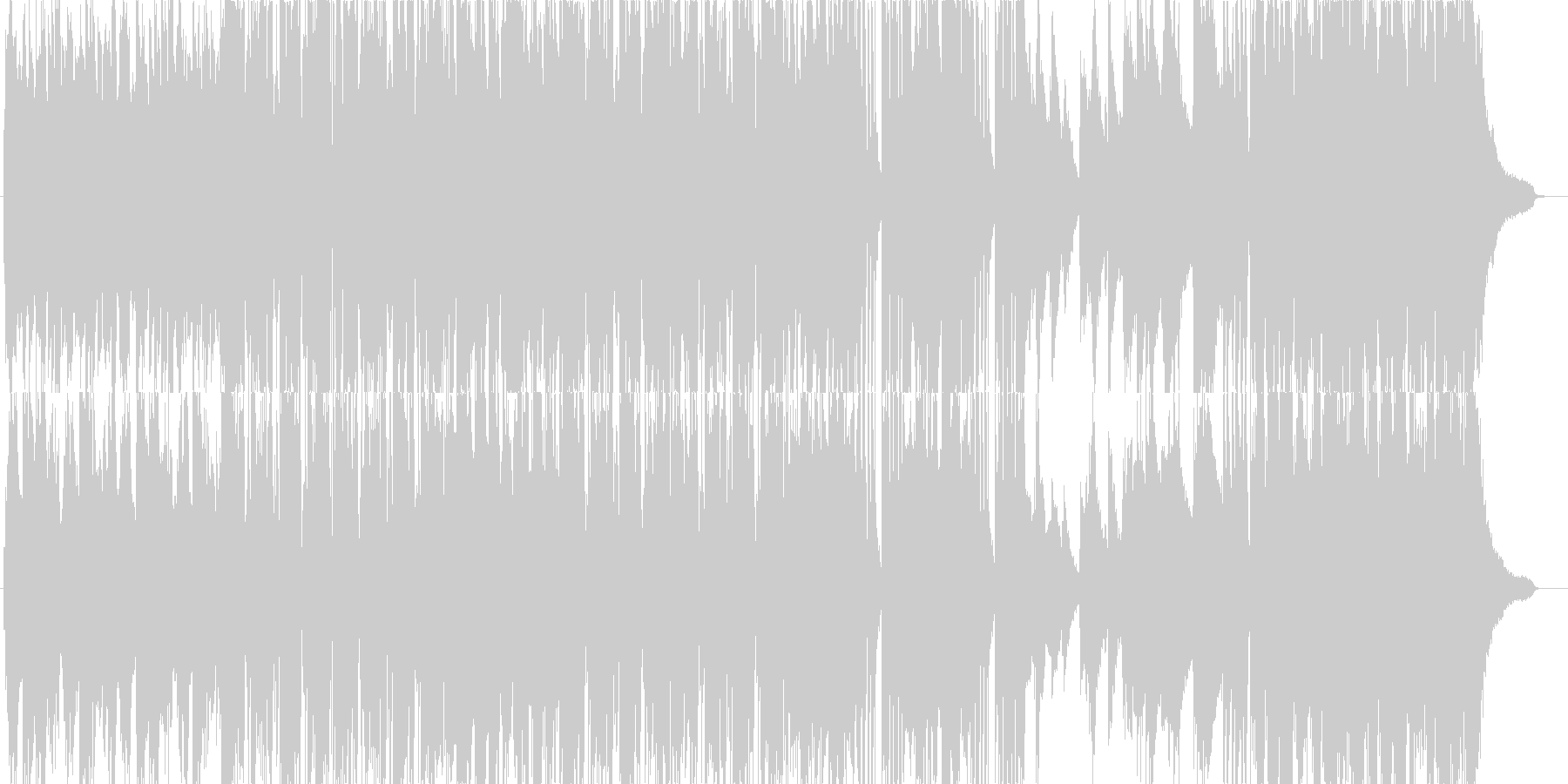 ピアノ主体のクールなポストロックです。の未再生の波形