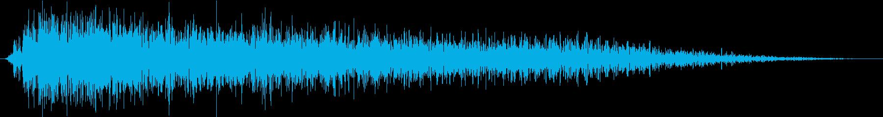 原子爆弾の爆発と爆弾の再生済みの波形