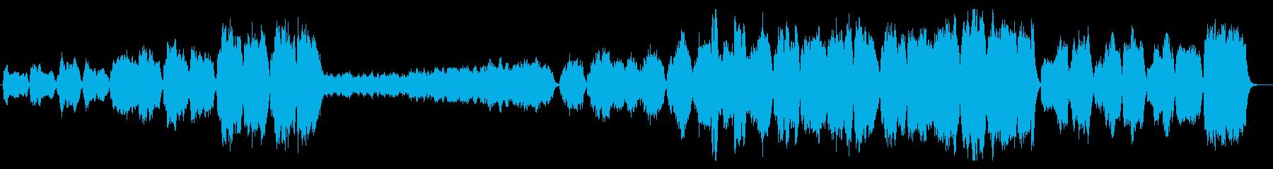 華やかで壮大なファンファーレの再生済みの波形