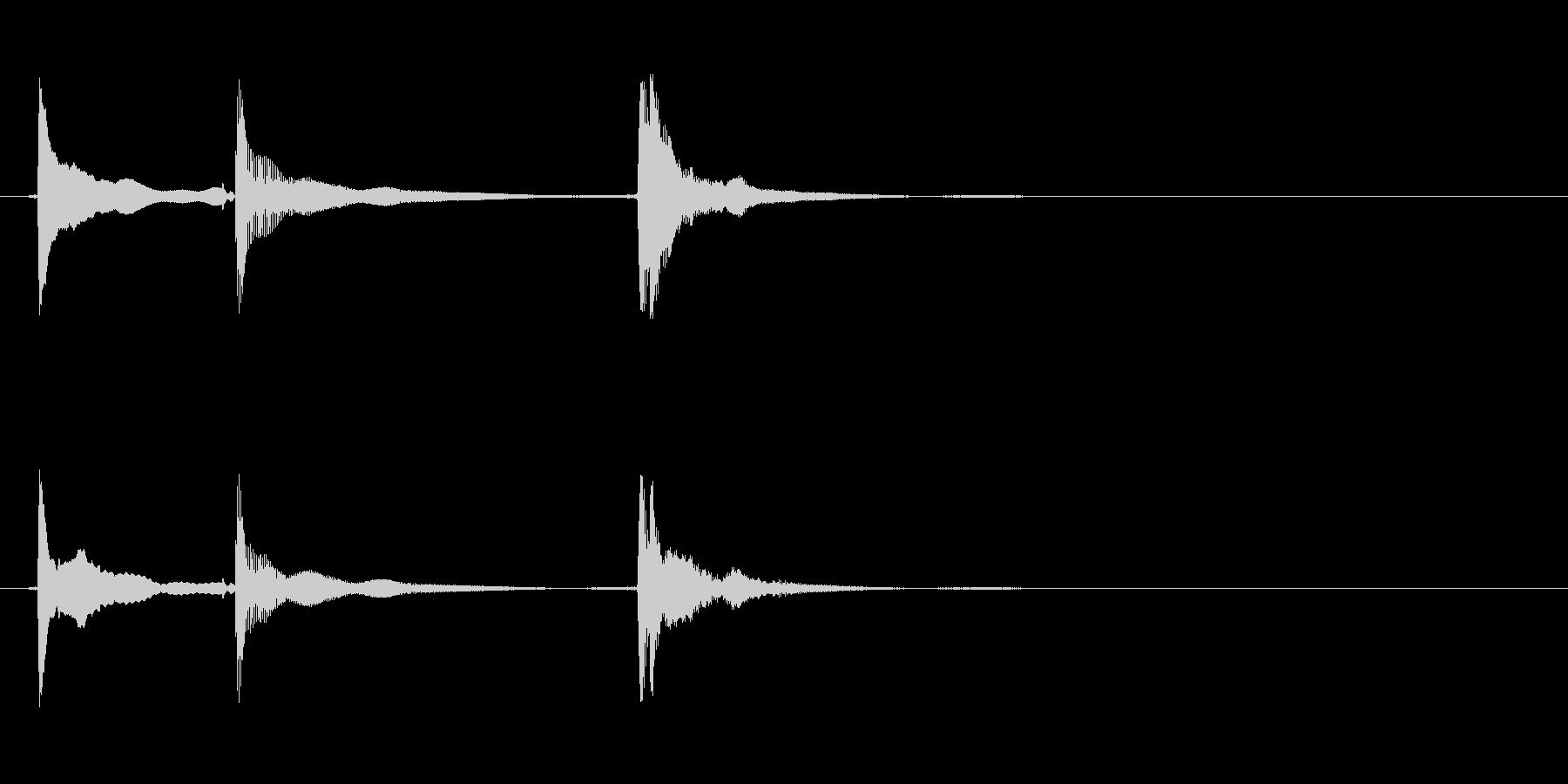 三味線のチントンシャン終わりのジングルの未再生の波形