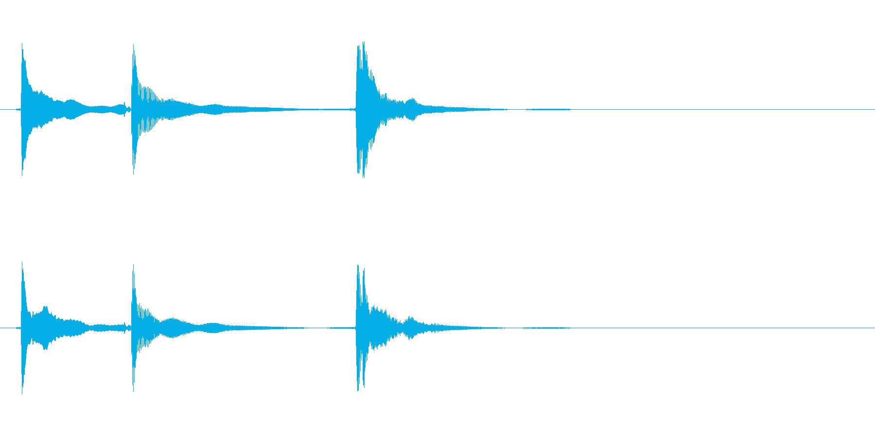 三味線のチントンシャン終わりのジングルの再生済みの波形