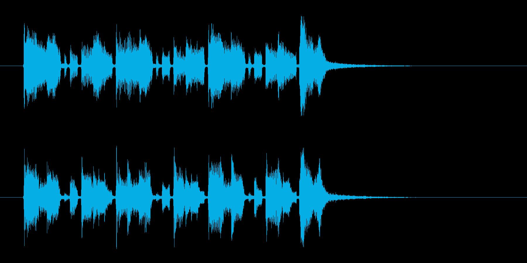 明るくおしゃれなギターサウンドの再生済みの波形