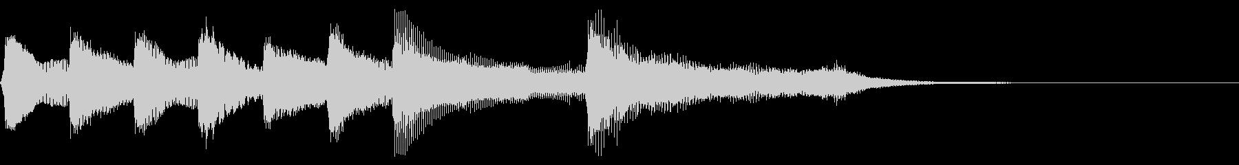 8bit レトロなクリア音 達成 完了の未再生の波形