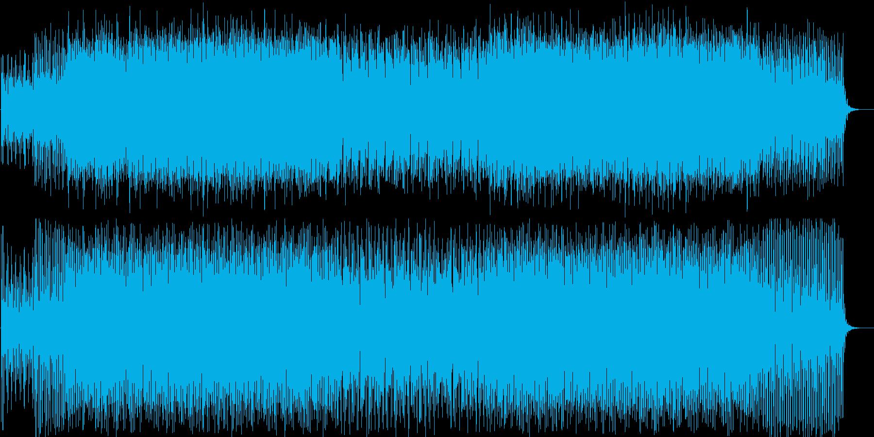 キラキラ、キュートなテクノポップの再生済みの波形