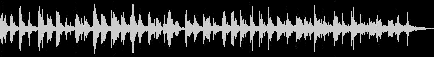 ピアノによる美しい癒しのヒーリング曲の未再生の波形