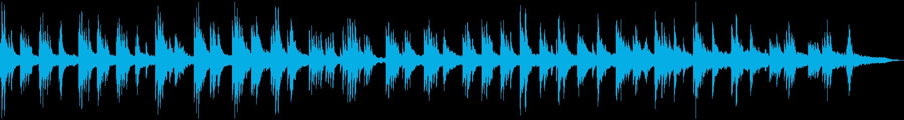 ピアノによる美しい癒しのヒーリング曲の再生済みの波形