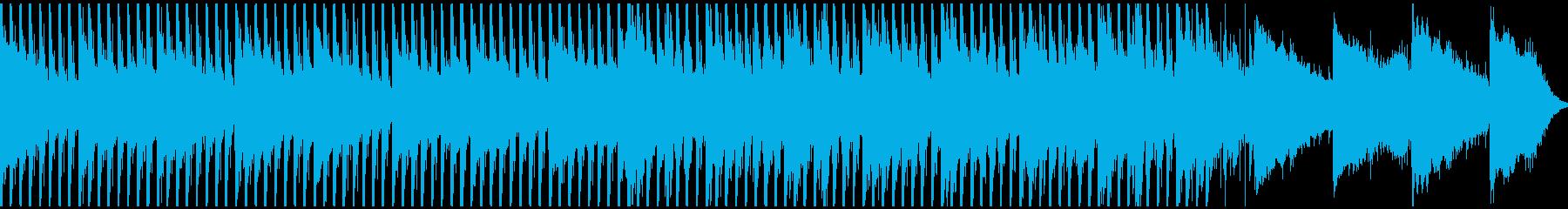 モダンな雰囲気漂う4つ打ちの再生済みの波形