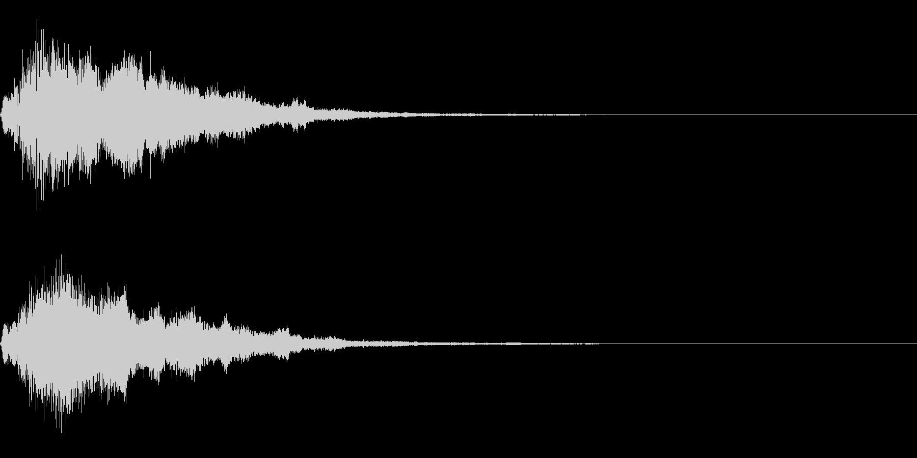 フワッキラキラとしたサウンドロゴの未再生の波形