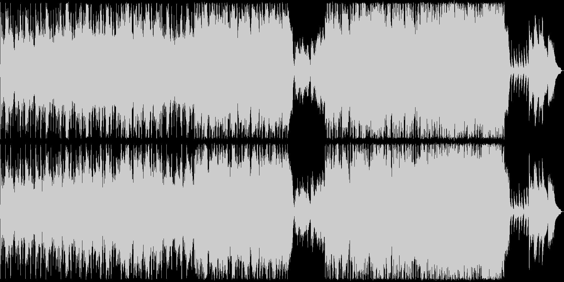 ピンクフロイド風の物悲しいBGM2の未再生の波形