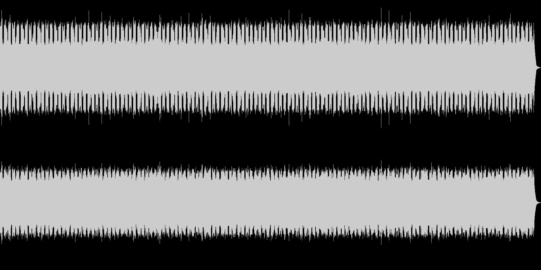レーザーシューティングゲームのBGMの未再生の波形