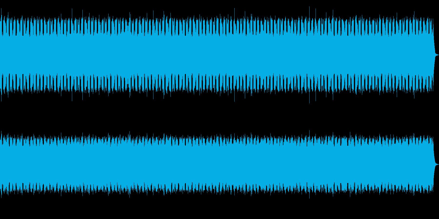 レーザーシューティングゲームのBGMの再生済みの波形