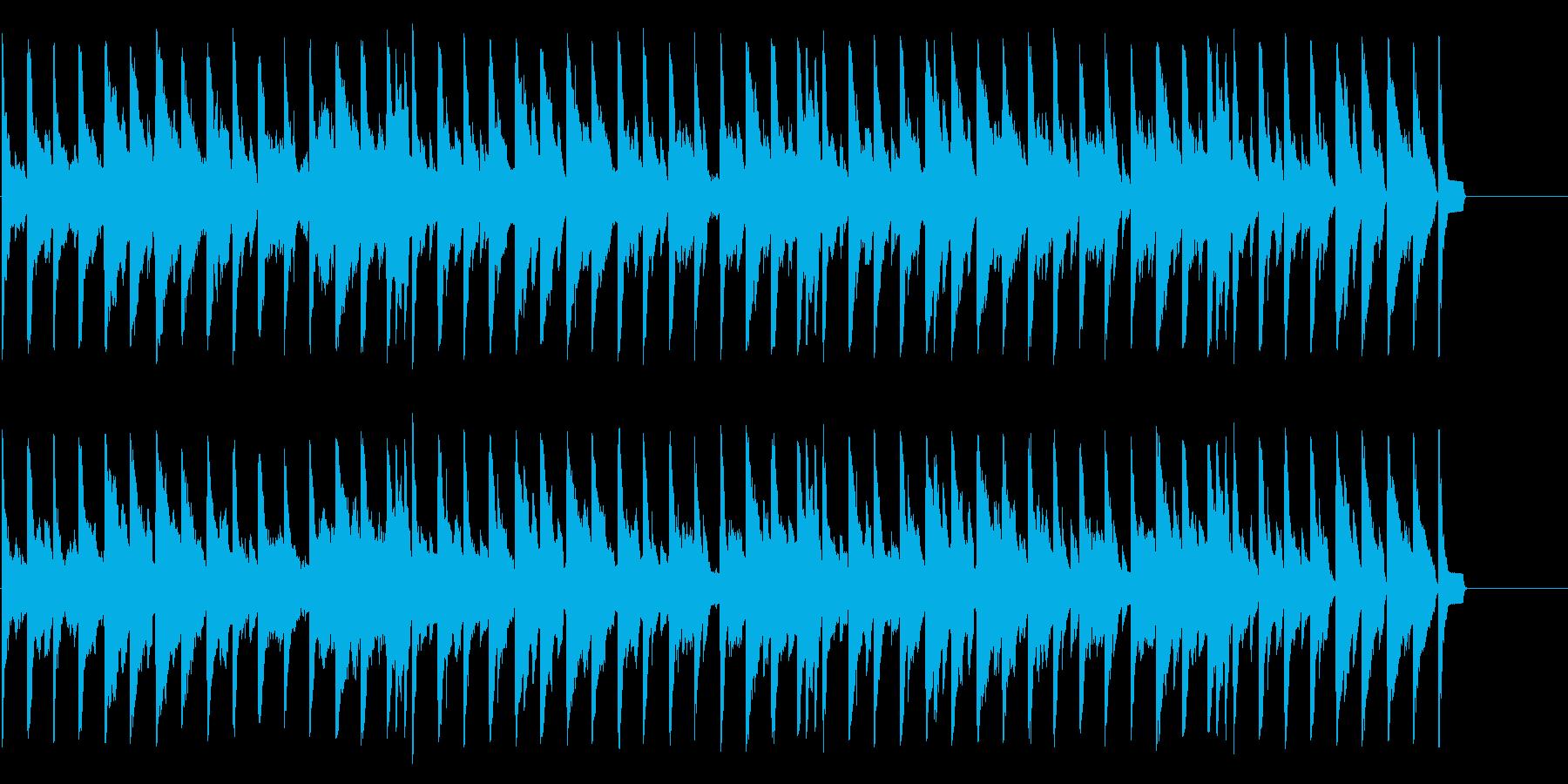 昼下がりのまどろみを演出するワルツの再生済みの波形