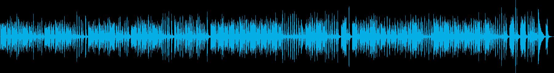 愉快なピアノBGM(明るい・ポップ)の再生済みの波形