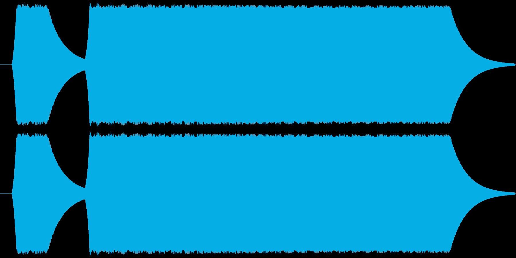 ピーッ、という審判のホイッスルですの再生済みの波形