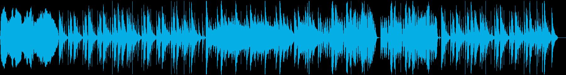 のどか系チェロ、バイオリン、ピアノBGMの再生済みの波形