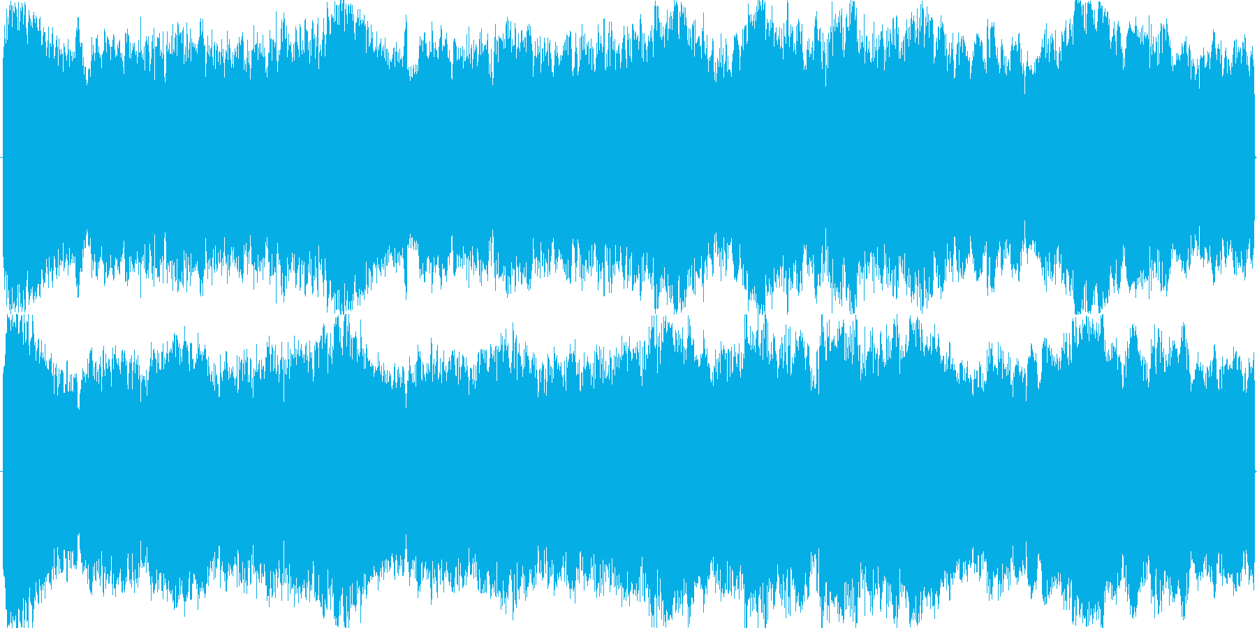 ループ可の明るく壮大なオーケストラBGMの再生済みの波形
