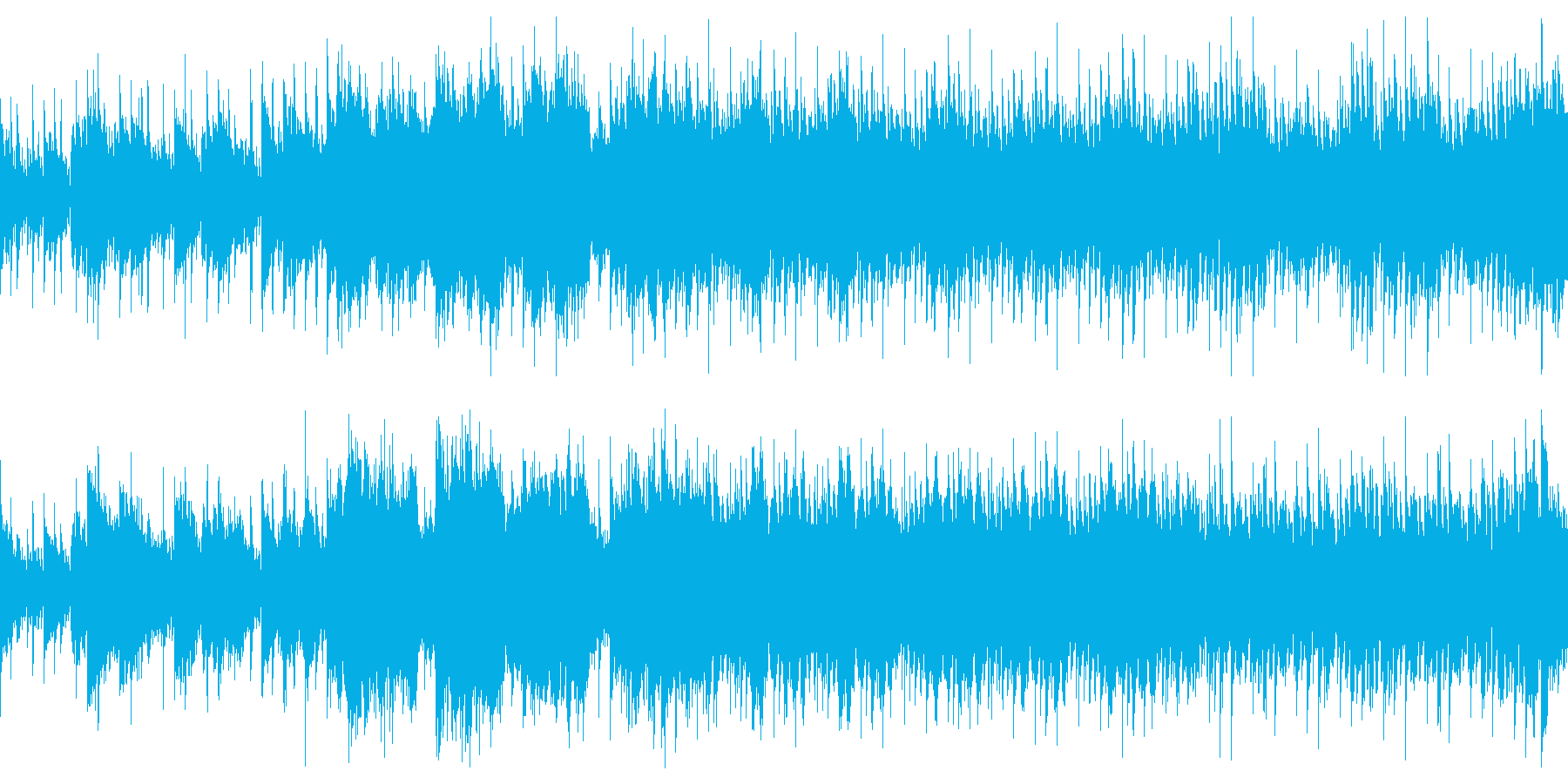 雪景色のキラキラを表現したきれいなBGMの再生済みの波形