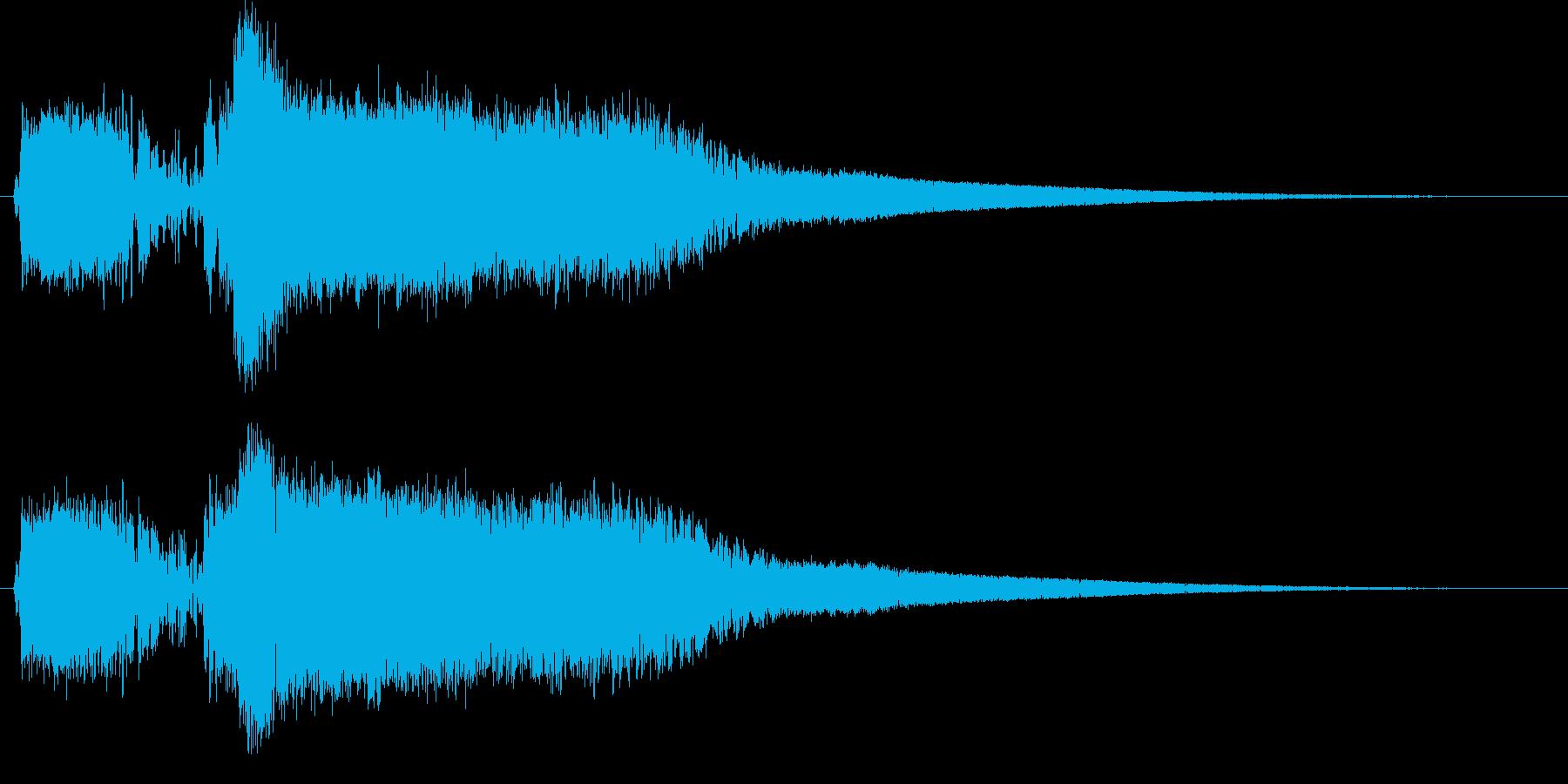 モンスターの鳴き声(ギャース1)の再生済みの波形