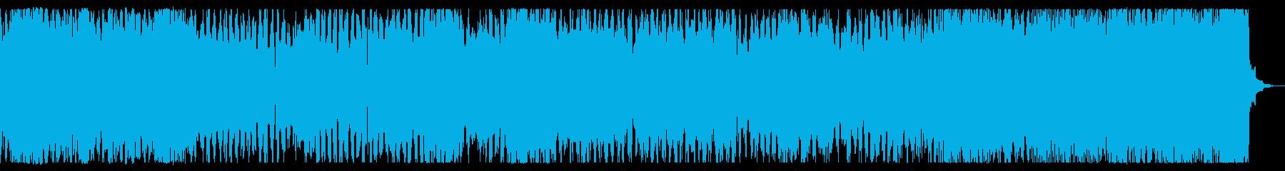3連リズムの勇壮コミカルなチップチューンの再生済みの波形