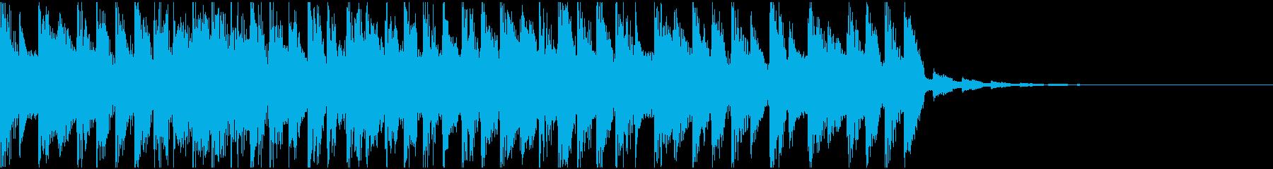シンセ、エレクトリック、テクノ、ジングルの再生済みの波形