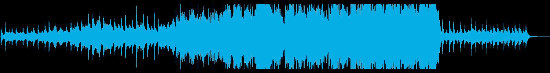 幻想的でゆっくりと始まるオーケストラ曲の再生済みの波形