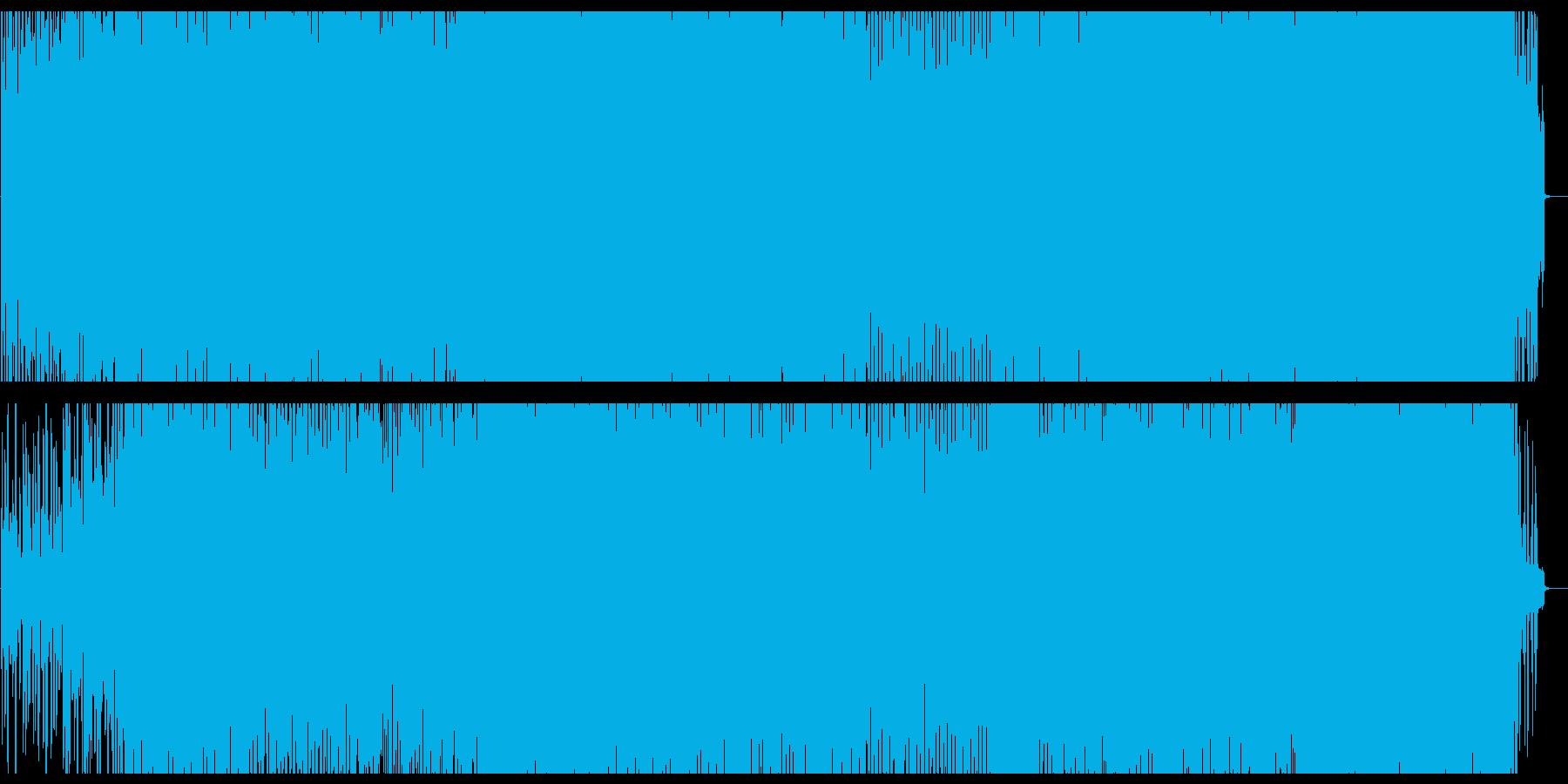明るく弾ける弦楽器シンセテクノサウンドの再生済みの波形