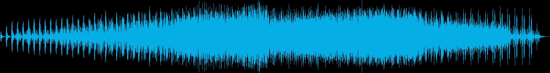 謎めいた雰囲気のミニマルテクノの再生済みの波形