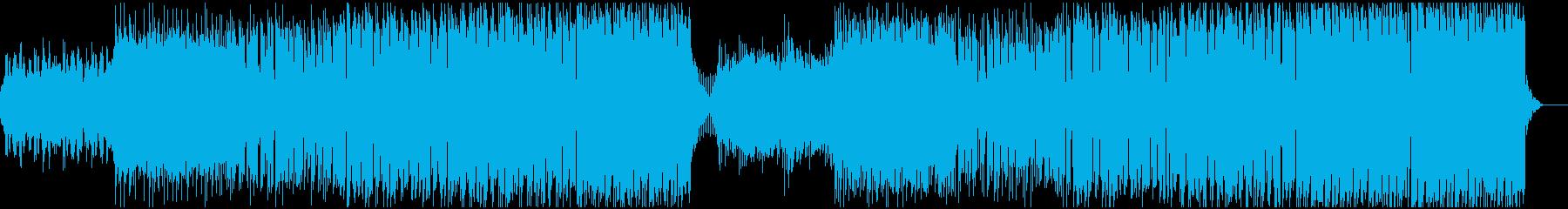 シンセリードメインの爽やか系EDMの再生済みの波形