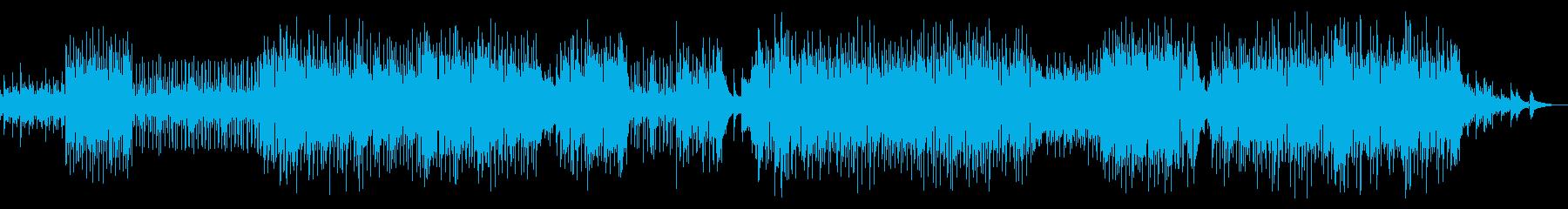 ゆったりとしたアコースティックポップスの再生済みの波形