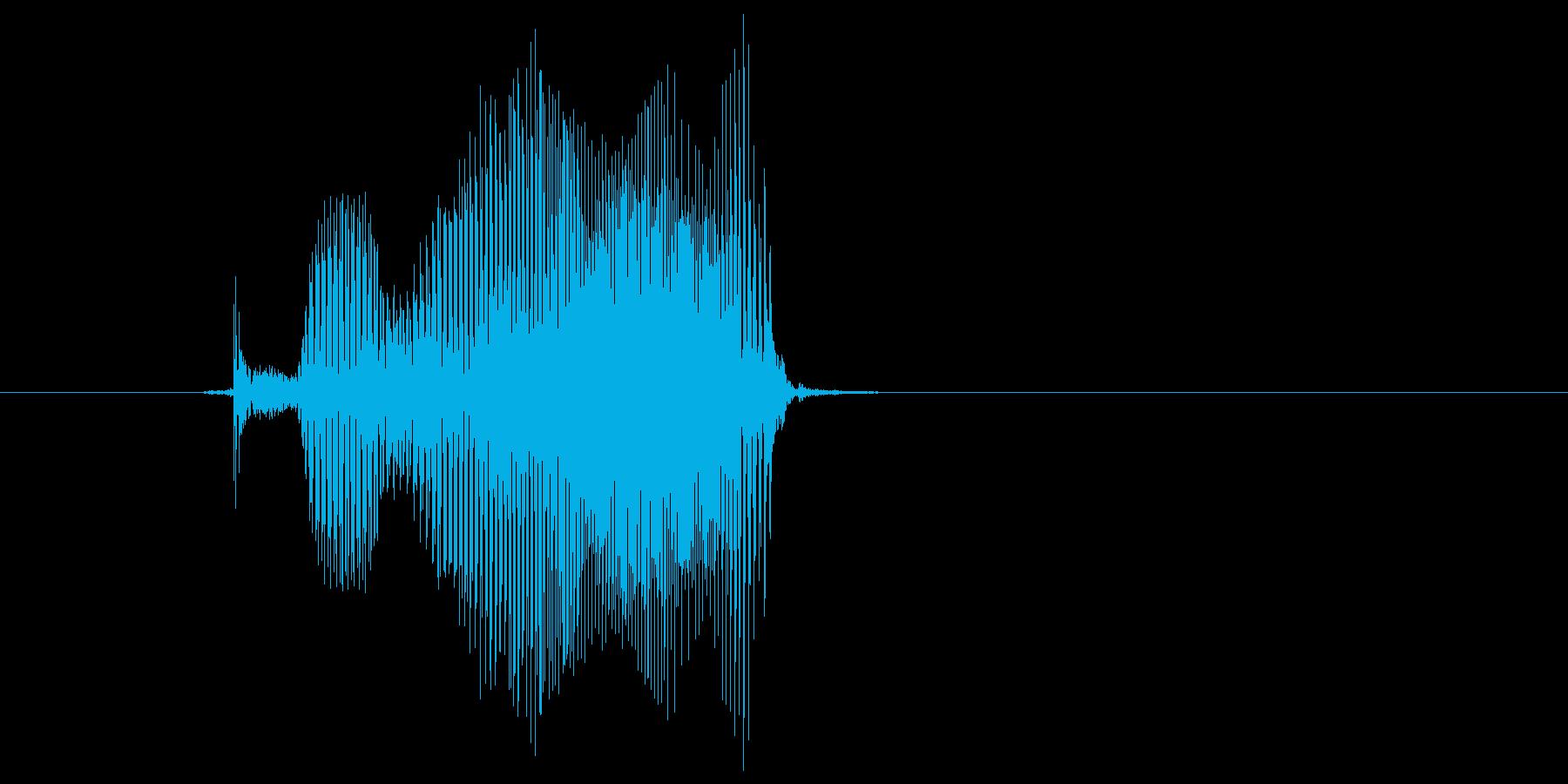 「プレイ」の再生済みの波形